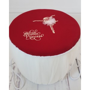 Rochita de botez fetite si cutie trusou VICTORIA din dantela rosie