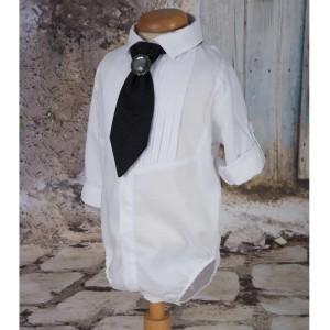 Costum de Botez Baiat toamna-iarna CEREMONIE din stofa albastra, 6 piese