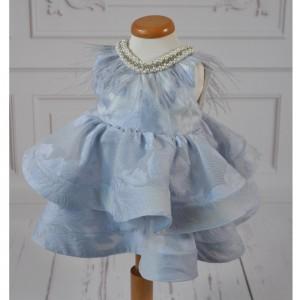 Rochita de botez bleu pentru vara 3 piese, Lily