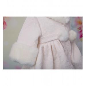Paltonas de Botez alb-ivoire bebelusi/fete, Alba Ca Zapada