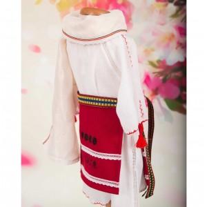 Costumas popular traditional romanesc fetite cu lumanare DOINA, 5 piese