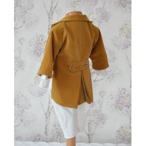 Costum de botez toamna-iarna print Little Prince din catifea, croiala spectaculoasa