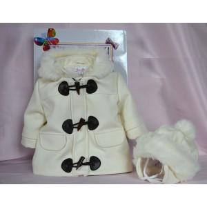 Palton de botez baiat toamna-iarna si caciula calduroasa FROZEN, cvp10