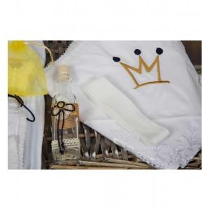 Trusou de botez baietel My King cu lantisor suzeta