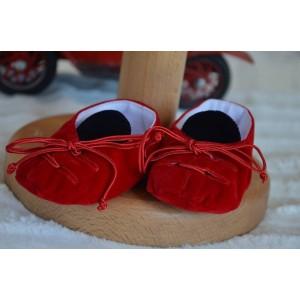 Costum de botez baiat Primavara RED Jacket catifea rosie, 6 piese