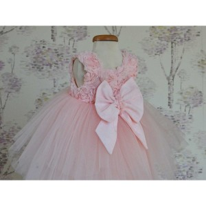 Rochita de botez roz fetita de vara, Rose Tiara