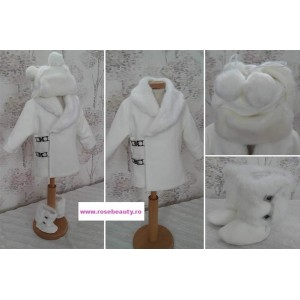 Paltonas alb de botez bebelusi baieti toamna-iarna, Vladimir