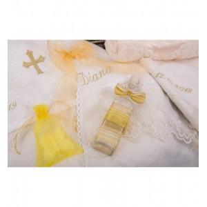 Trusou botez biserica fetita, cutie si lumanare botez, Antique