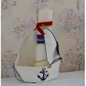 Lumanari botez personalizate - Lumanare botez baiat, MARINAR 35 cm