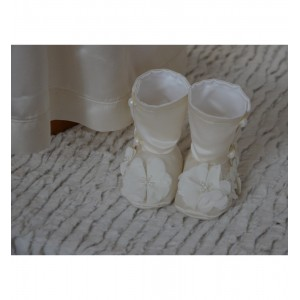 Rochita si paltonas de botez ivoire GRACE KELLY set elegant, 4 piese
