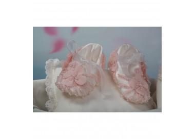 Botosei eleganti dantela si perlute pentru botez fetite, La Storia