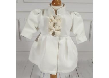 Paltonas alb-ivoire de botez bebelusi fetite, Melissa