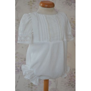 Rochita de botez alba pentru vara, Little White Angel