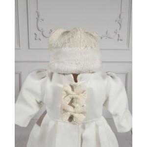Paltonas alb-ivoire de botez bebelusi fete 3 piese, Melissa
