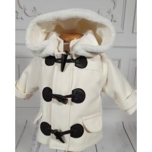 Set palton stofa si caciulita botez baiat iarna, Frozen