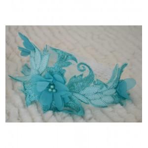 Bentita dantela eleganta tourcoise de botez fetite, Blue Angel