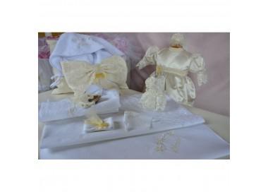 Trusou botez biserica cu accesorii din dantela cvt09